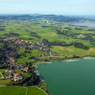 Luftaufnahme von Weißensee