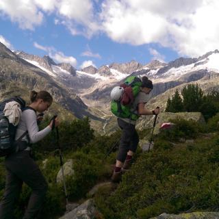Aufstieg Krimmler Tauernhaus - Zittauerhütte, Blick ins Rainbachtal