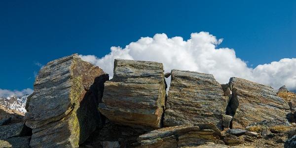 Gesteinsformation am Geotrail
