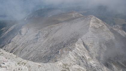 Rückblick vom Warscheneck auf den Aufstiegsweg  (04.10.2014)