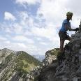 Den Salewa-Klettersteig in Oberjoch fast geschafft