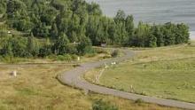 Ein Klassiker: Der Rundkurs um den Cospudener See (11 km)