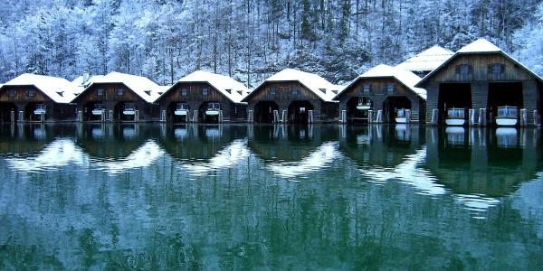 Boosthütten am Königssee