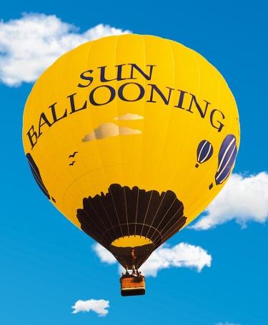 Fahrt mit Heissluftballon