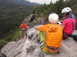 Foto Am Gipfel des Großen Lorenzstein