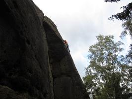 Foto Silhouette - Kletterer im Knappenweg