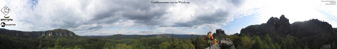 Foto Gipfelpanorama von der Wartburg