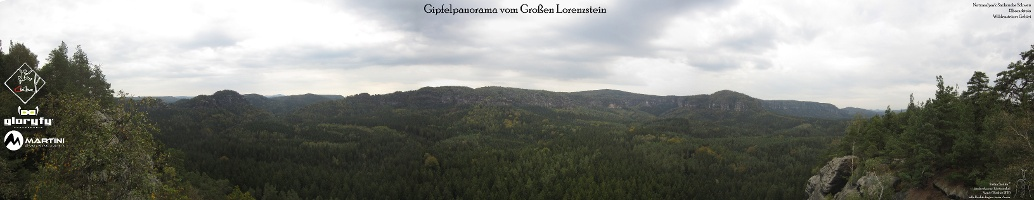 Foto Gipfelpanorama vom Großen Lorenzstein