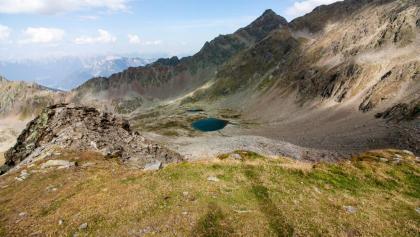 Ausblick zum Kugleter See, Schwendtkopf und Wildgrat