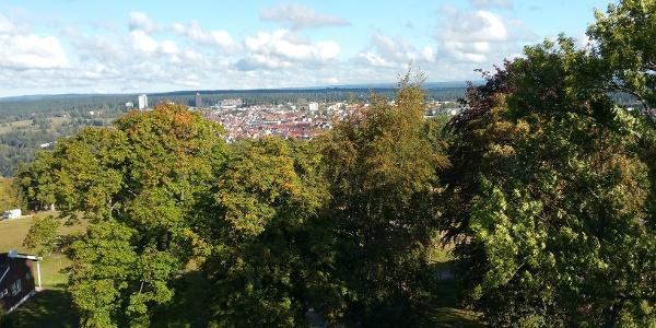 Blick vom Friedrichsturm auf Freudenstadt