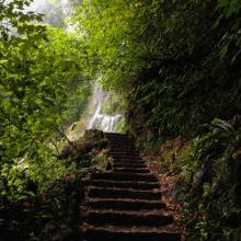 Am Bad Uracher Wasserfall