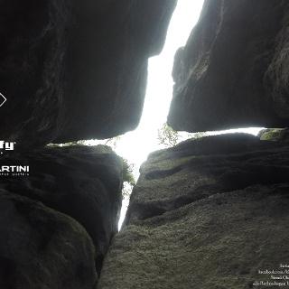 Blick im Kaminsystem nach oben