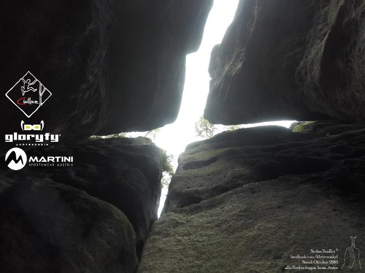 Foto Blick im Kaminsystem nach oben