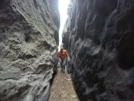 Foto am Anfang ist der Kamin noch breit