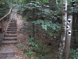 Foto Treppen in die Scharte zwischen Kleinen und Großen Lorenzstein