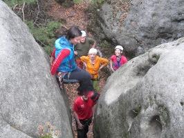 Foto die letzten Meter auf den Gipfel