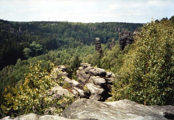 Foto Blick ins Bielatal.