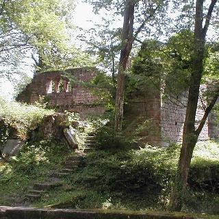 Die Burgruine Eberbach.