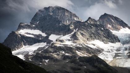 Piz Buin (3312 m) beim Aufstieg zur Wiesbadener Hütte (2443 m)