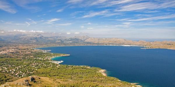 Blick von der Talaja d'Alcudia Richtung Bucht von Pollenca