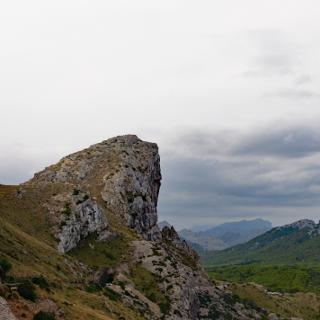 Blick von der MA 2210 Richtung Coll de la Creu und Es Fumat
