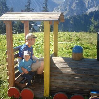 An der Bergstation Wannenjochbahn