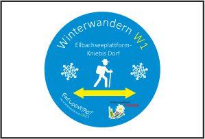 Der Württembergische Kniebis Ausgeschilderte Winterwanderung gelb