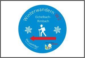 Über den badischen Kniebis, ausgeschilderte Winterwanderung (rot)