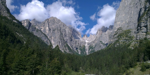 Panorama sulle Dolomiti di Brenta.