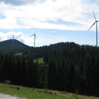 Blick auf die Windräder