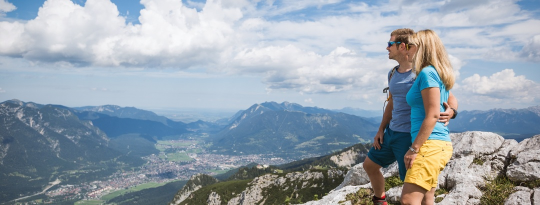 Spektakuläre Aussichten im Zugspitzland