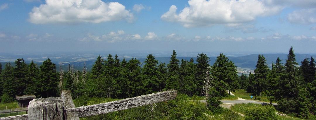 Ausblick vom Backöfele auf dem Schneeberg