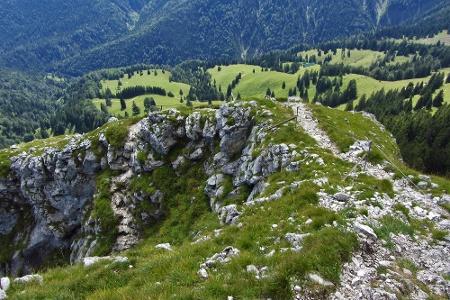 Abstiegsweg über den Dr. Julius-Mayr-Weg (Klettersteig)