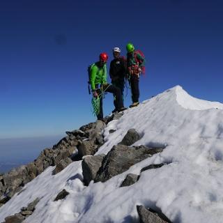 Auf dem Gipfel des Schreckhorns