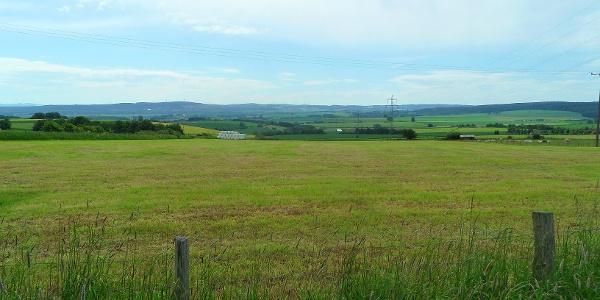 Fernblicke über Felder in Hergarten