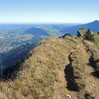 Blick zurück zum Steineberggipfel.