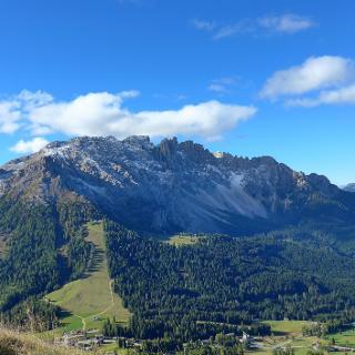 Bergstation Paolinalift, Blick zum Latermarstock
