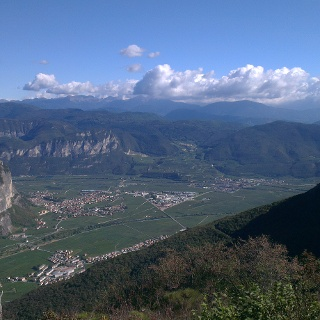 Panorama su Piana Rotaliana.