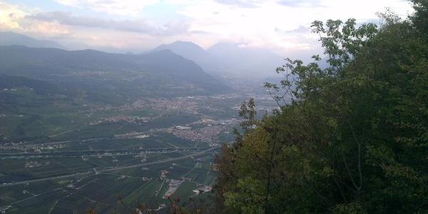 Panorama sulla Valle dell'Adige.