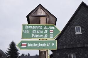 Foto Wanderwegweiser in Saupsdorf