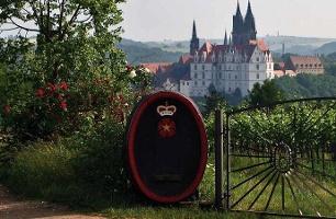 Foto Weinbergsblick auf die Albrechtsburg Meissen