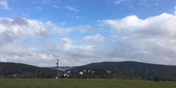 Blick über Lauscha Richtung Ernstthal
