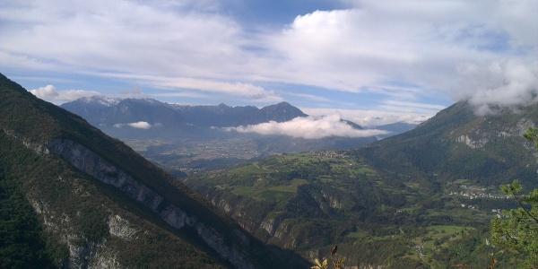 Panorama dalla strada forestale Nembia-Ranzo.