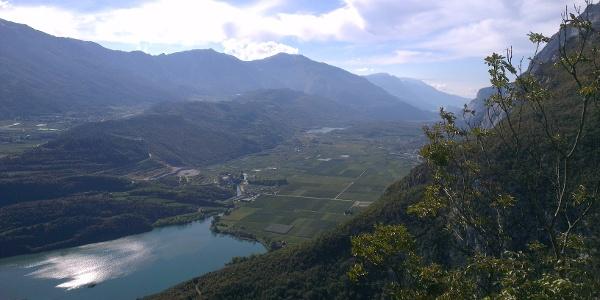 Blick auf das Valle dei Laghi (Seental)