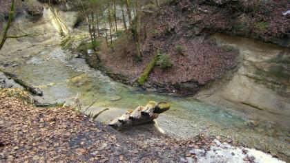 typische Tobellandschaft nahe des Wasserfalls
