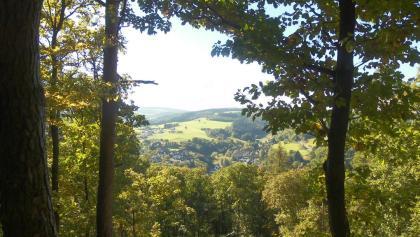 Ausblick von der Clemens-de-Lassaulx-Hütte auf Adenau