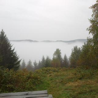 Ernst August Platz Blick auf Wildemann - leider in den Wolken