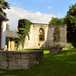 Überreste der eingestürzten Cäcilienkirche - Burgtonna
