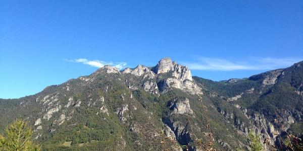 Veduta su Val Gola e monte Spizzom