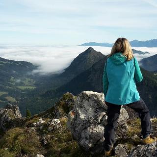 Blick ins Allgäu: Pfronten unter Wolken